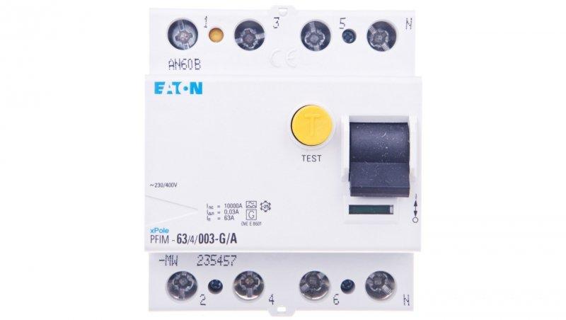 Wyłącznik różnicowoprądowy 4P 63A 0,03A typ A PFIM-63/4/003-G/A-MW 235457
