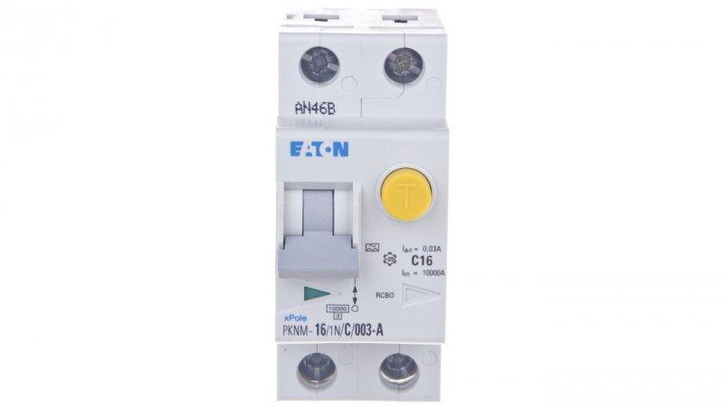 Wyłącznik różnicowo-nadprądowy 2P 16A C 0,03A typ A PKNM 16/1N/C/003-A-MW 236217