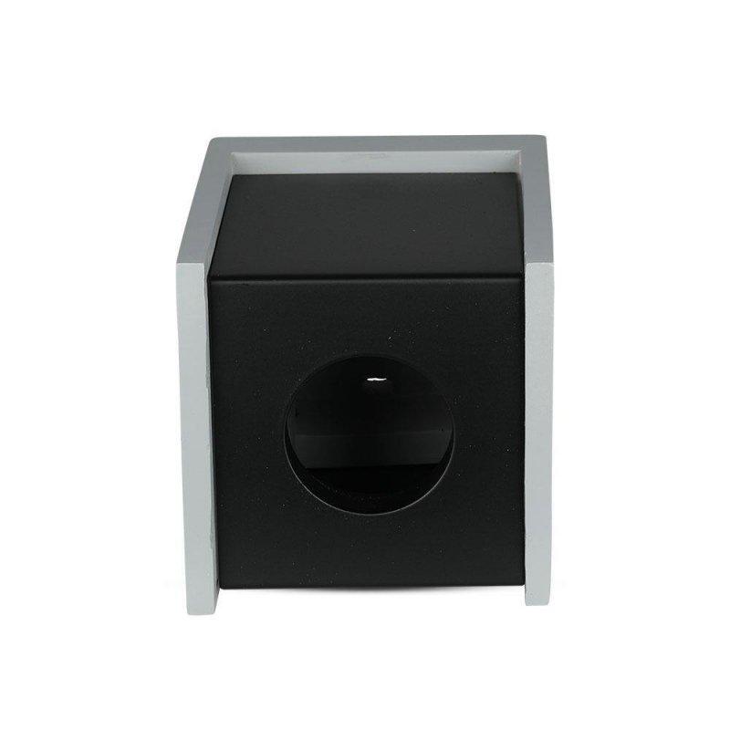 Oprawa V-TAC GIPS BETON GU10 Natynkowy Kwadrat Szary/Czarny VT-860 5 Lat Gwarancji