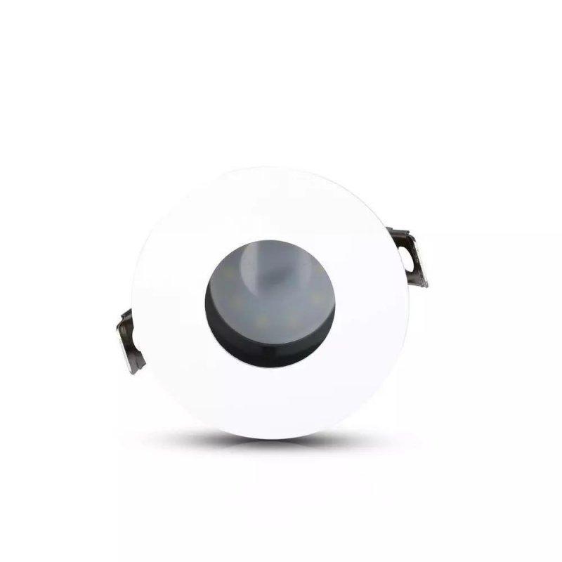 Oprawa Oczko V-TAC GU10 Wpuszczana Biały/Czarny Okrągła VT-873