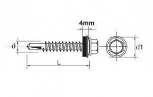 WKRĘT SAMOWIERTNY IMPAX Z EPDM #5MM RAL3005 5.5*25MM