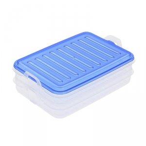 Pojemnik na żywność podwójny niebieski