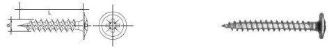 WKRĘT DO DREWNA ŁEB PODKŁADKOWY WHD 4.0*30MM