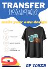 Papier transferowy naprasowanka  na koszulki a4 na ciemne 5 ark PAP-DTT120