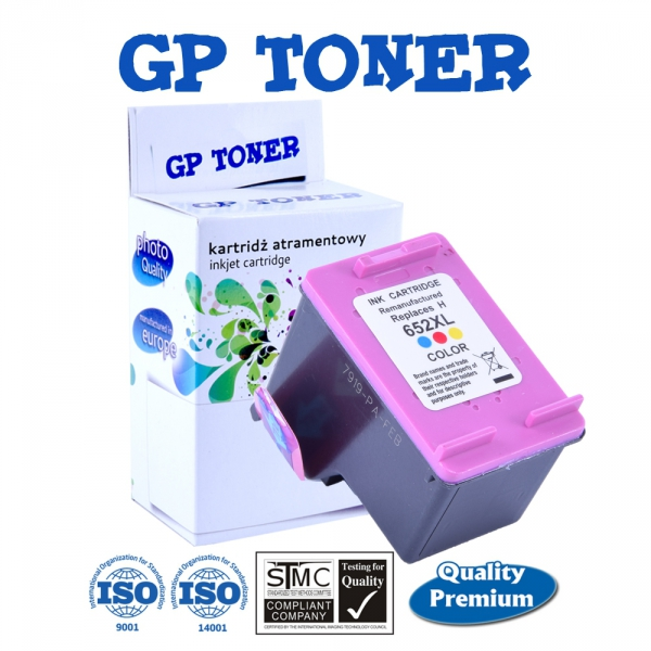 Tusz do HP 652 XL Deskjet Ink Advantage 1115 2135 2136 3635 3775 3785 3835 4535 - zamiennik GP-H652XL Kolor