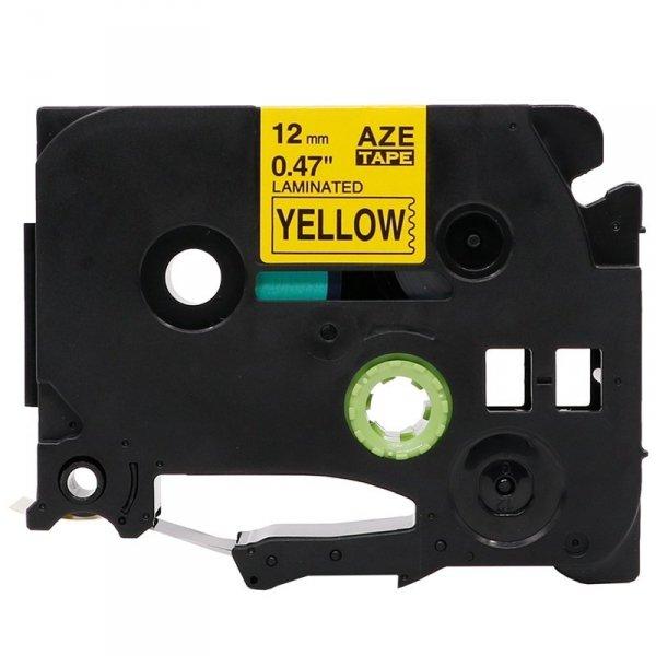 Taśma zamiennik do Brother TZ-631 Czarny na żółtym