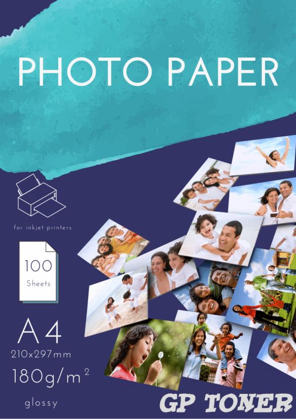 Papier Fotograficzny Błyszczący A4 180g 50 szt PAP-A4-FOTO180