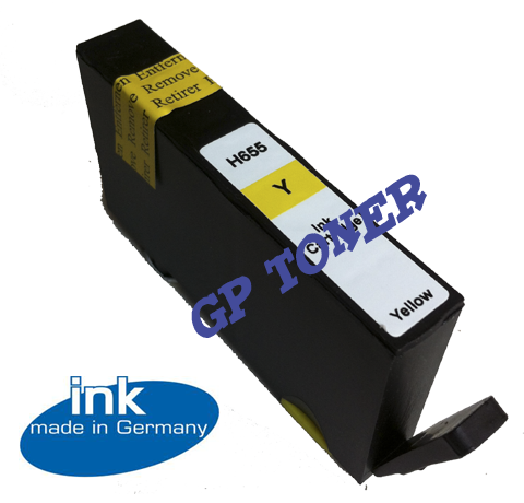 Tusz Zamiennik HP 655 XL 3525, 4615, 4625, 5525, 6525 - GP-H655XLY Yellow