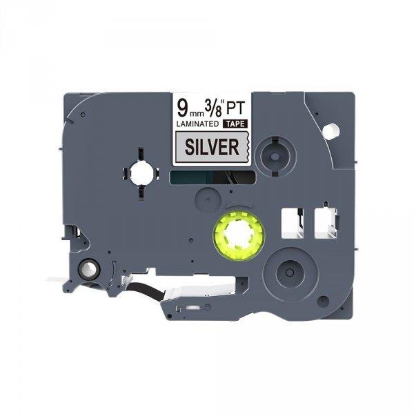 Taśma zamiennik do Brother TZ-931 Czarny na srebrnym