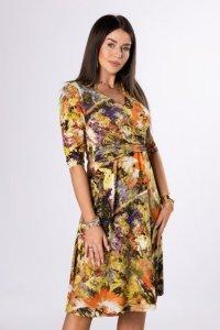 sukienka midi z zakładką