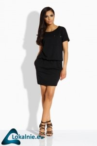 L201 Luźna sukienka z kieszonką