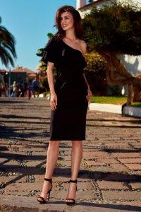 Olśniewająca sukienka na jedno ramię L254