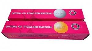 Piłki do tenisa stołowego 6szt 40mm