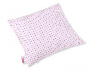 Poszewka na poduszkę - kropki różowe