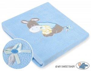 Kocyk polarowy- Osiołek Lucek niebieski