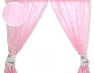 Zasłonki do pokoju dziecięcego- Osiołek Lucek różowy