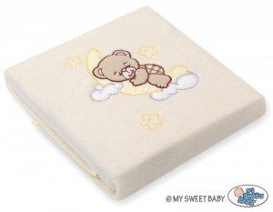 Kocyk polarowy- Dobranoc kremowe
