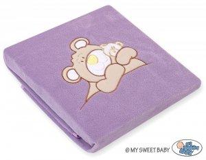 Kocyk polarowy- Miś Barnaba fioletowy
