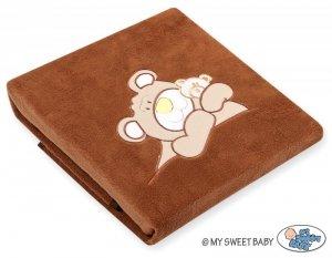 Kocyk polarowy- Miś Barnaba brązowy