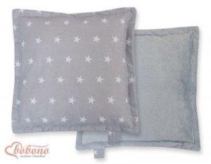 Poduszka dwustronna- Gwiazdki szare