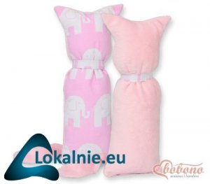 Kot przytulanka dwustronna - Simple słonie różowe