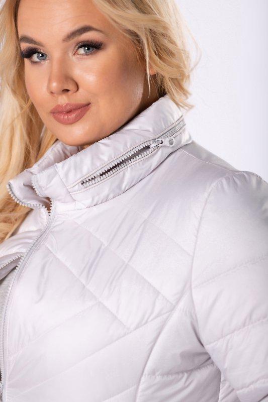 pikowana kurtka z krytym kapturem