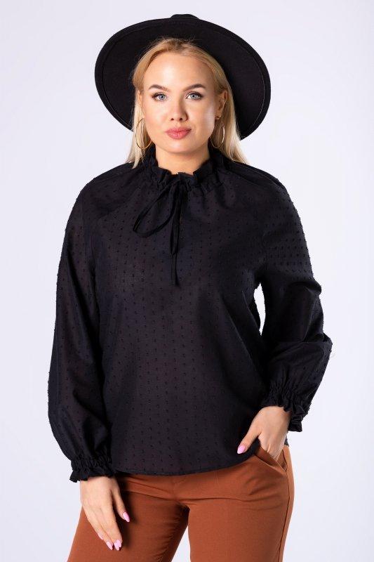 bawełniana koszula z wiązaniem przy szyi
