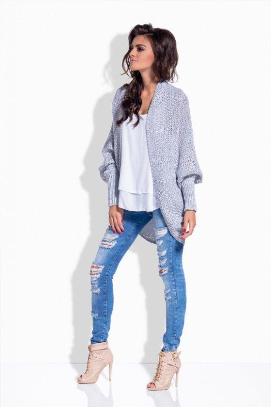 LS170 Melanżowy sweterek narzutka