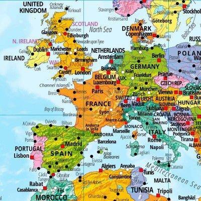 Mapa świata XXL - plakat