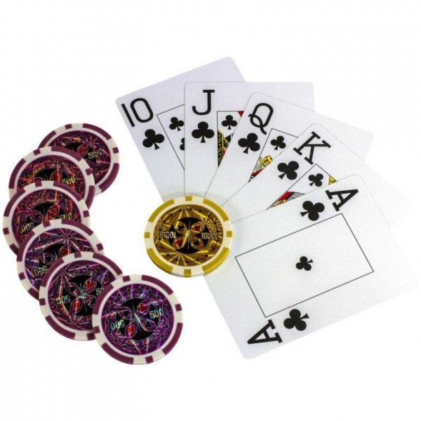 Zestaw do pokera 300szt. żetonów 1 - 1000 design Ultimate