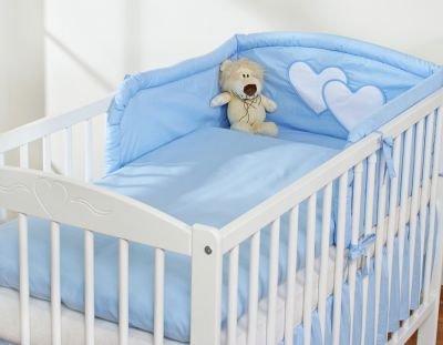 Pościel 3-cz Serduszka niebieskie