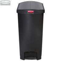 Kosz Slim Jim® Step-On 90L Resin Containers End Step Style black