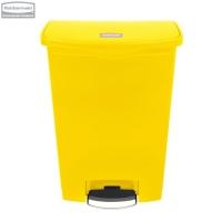 Kosz Slim Jim® Step-On 90L Resin Containers yellow