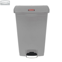 Kosz Slim Jim® Step-On 68L Resin Containers grey
