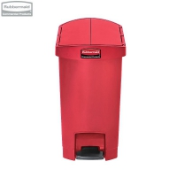 Kosz Slim Jim® Step-On 30L Resin Containers End Step Style red
