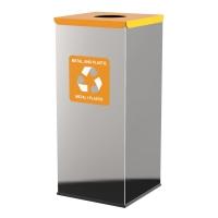 Kosz do segregacji odpadów EKO SQUARE PRESTIGE 60L plastik i metal