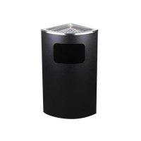 Koszopopielnica narożna czarna MX-2077