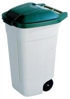 Pojemnik na odpady 110L z pokrywą beżowy