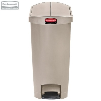 Kosz Slim Jim® Step-On 68L Resin Containers End Step Style beige