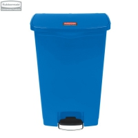 Kosz Slim Jim® Step-On 68L Resin Containers blue