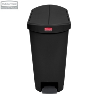 Kosz Slim Jim® Step-On 50L Resin Containers End Step Style black