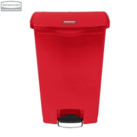 Kosz Slim Jim® Step-On 68L Resin Containers red