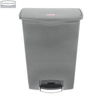 Kosz Slim Jim® Step-On 90L Resin Containers grey