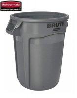 Kontener okrągły z kanałami BRUTE® 121,1L Grey