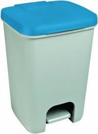 Kosz na śmieci Essentials 20L szary/niebieski