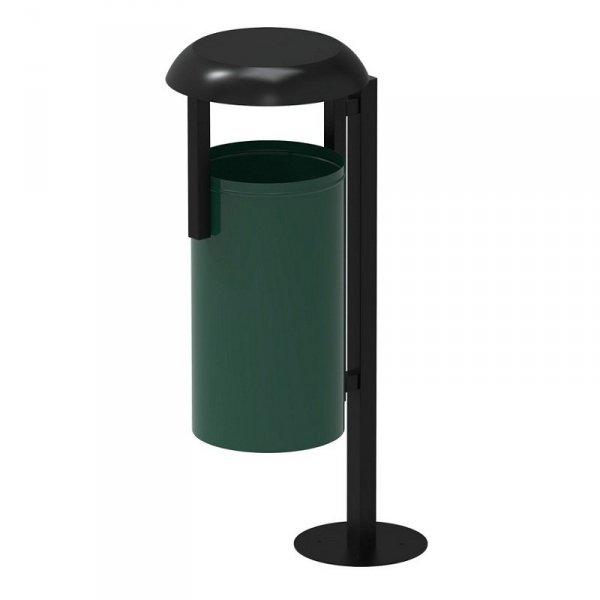Kosz parkowy RAMBO 35L zielono/czarny
