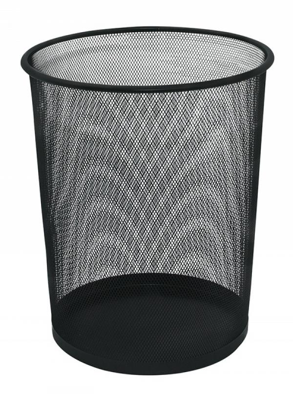 Kosz siatkowy metalowy 19L czarny