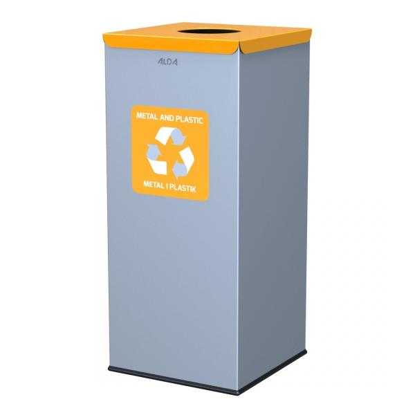 Kosz do segregacji odpadów EKO SQUARE 60L plastik i metal