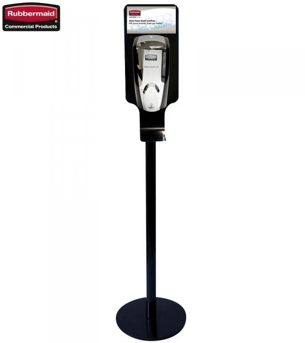 Automatyczny dozownik mydła black/chrome