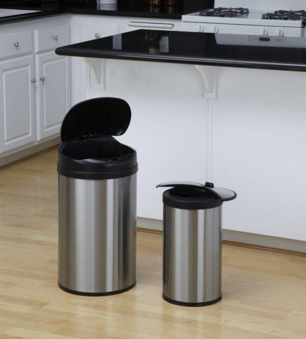 Bezdotykowy kosz na śmieci 40L + 12L COMBO